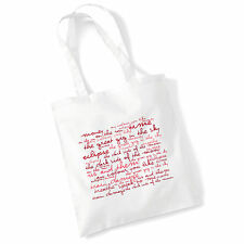 Art Studio Tote Bag PINK FLOYD Lyrics Print Album Poster Gym Beach Shopper Gift