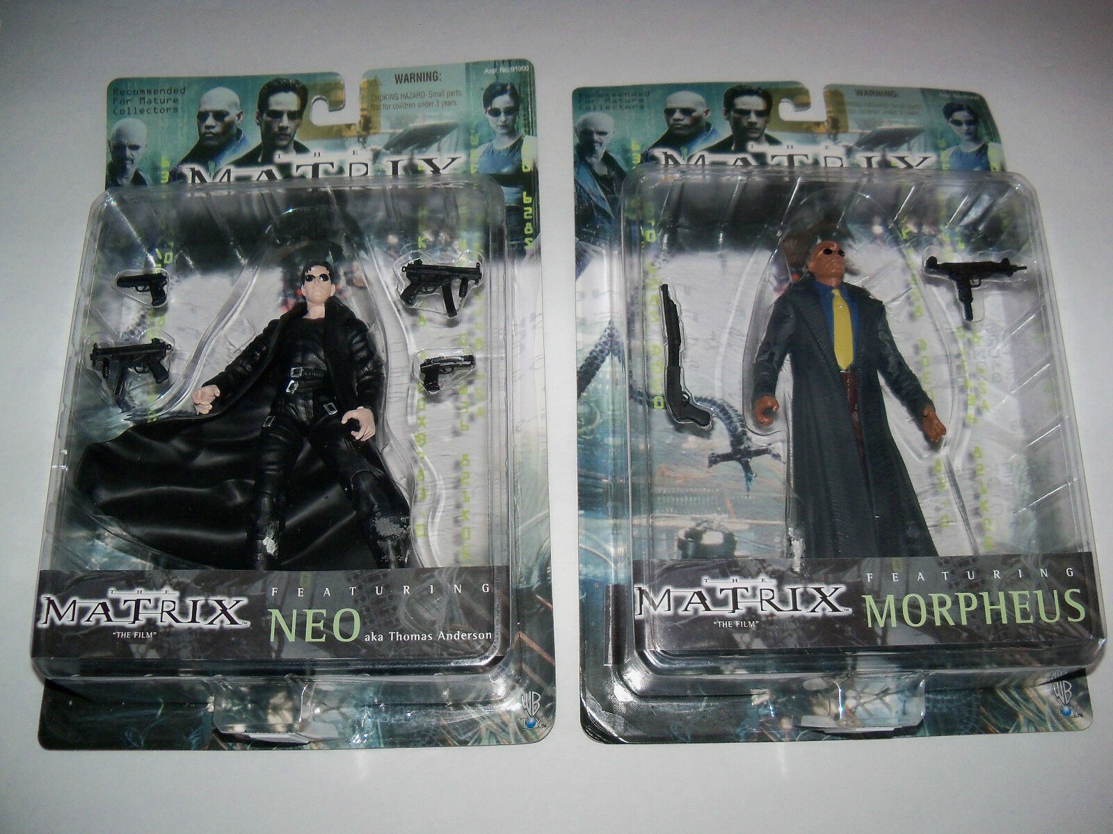 Retired rare nisp MATRIX TRILOGY Mr Anderson NEO The One + MORPHEUS Figure Lot