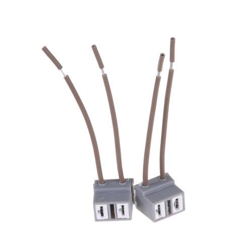 2PCS H7 2 Pins Headlight Repair Bulb Holder Connector Plug Wire Socket SE