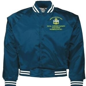 NAVAL SUPPORT FACILITY ANACOSTIA  WAS D.C. NAVY EMBROIDERED 2-SIDED SATIN JACKET
