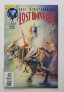 GENE RODDENBERRY'S LOST UNIVERSE #2 RARE BILL SIENKIEWICZ COVER W/ CARD INSERT!