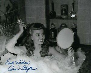 GFA Mildred Pierce Sexy Movie Actress ANN BLYTH Signed 8x10 Photo A3 COA