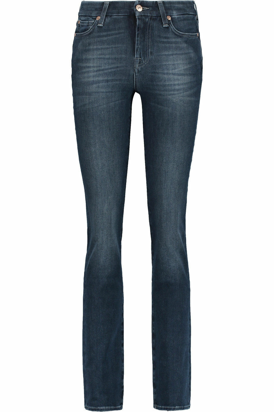 NEW + TAGS  7 FOR ALL MANKIND  STRAIGHT LEG FADED JEANS S 29 x 33 LEG RRP