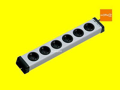 AS-Schwabe Aluminium Steckdosenleiste 6-fach Leiste Stromleiste Neuware