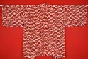 Vintage-Japanese-Kimono-Silk-Antique-BORO-HAORI-Kusakizome-Dyed-XS07-350