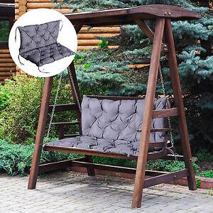 auflage f r gartenbank bankauflage hollywoodschaukel polster bank grau ebay. Black Bedroom Furniture Sets. Home Design Ideas