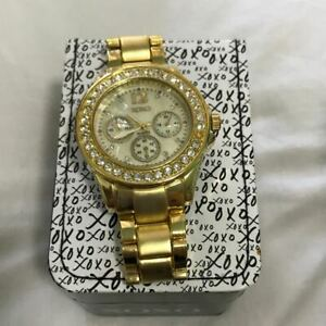 XOXO-Women-039-s-XO5651-Gold-Tone-Bracelet-Analog-Watch