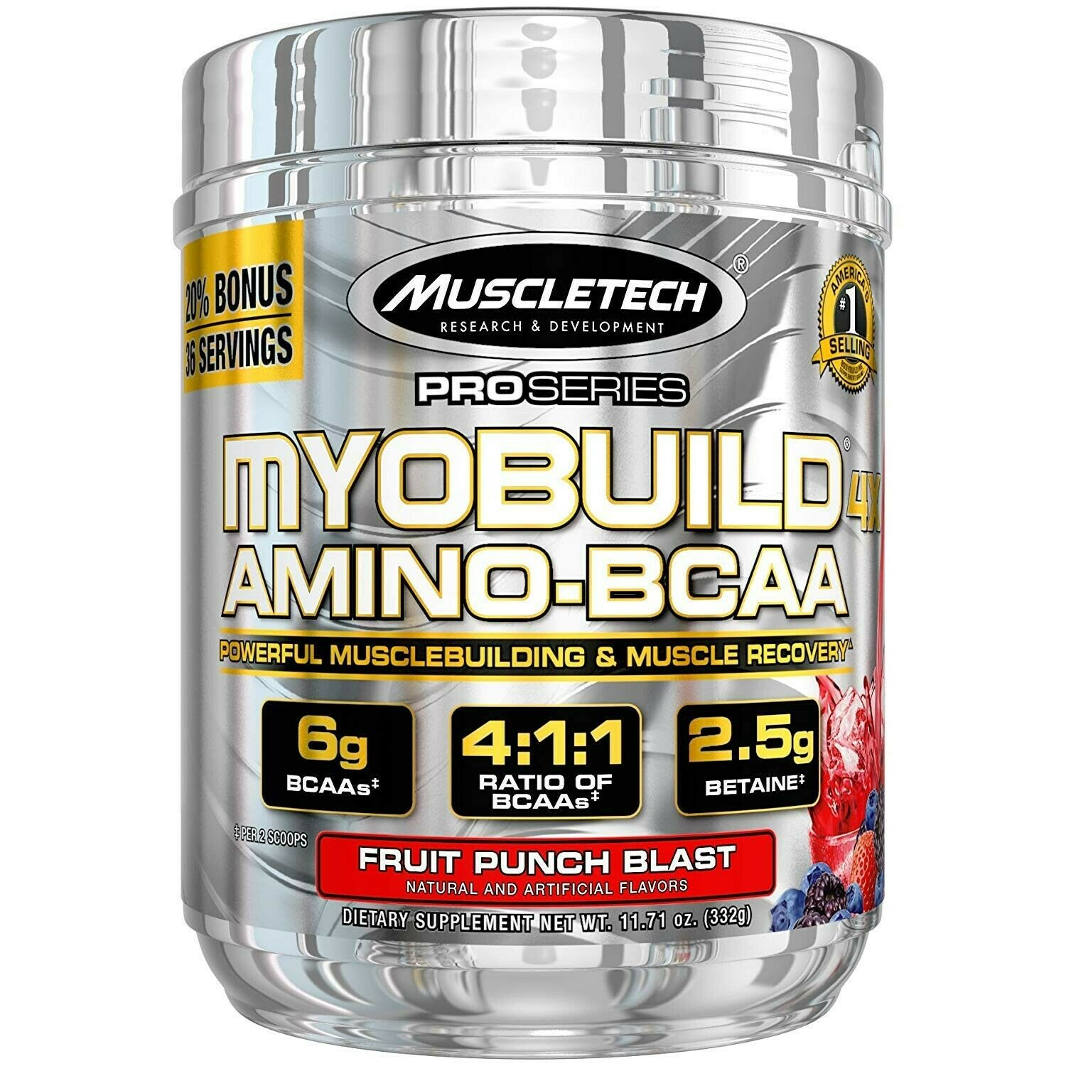 MuscleTech Myobuild BCAA Amino Acids Supplement, Muscle Building and Recovery…
