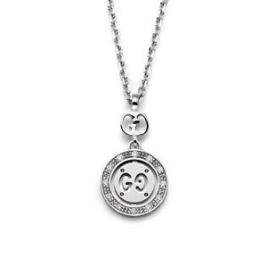 6a59902e0 Image is loading necklace-gucci-icon-twirl-YBB202064001-white-gold-18kt-