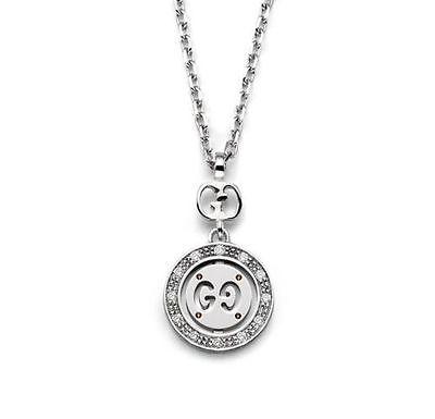 07aa0fb2 necklace gucci icon twirl YBB202064001 white gold 18kt woman lady | eBay