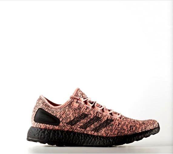 Adidas pureboost spur rosa / kern schwarze schuhe männer größe 10,5 nib cg2985