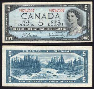Canada 5 Dollars 1954 BB / VF B-02