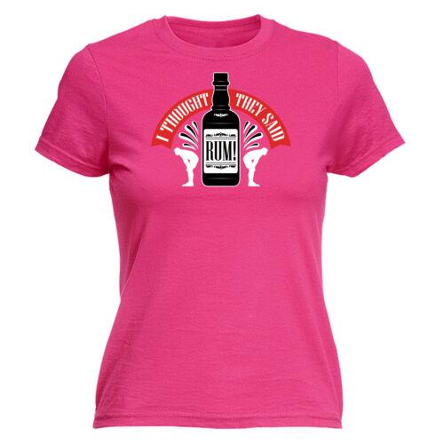 I Thought You Said Rhum Womens T-Shirt Jogging Training Pirate Poison Birthday