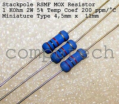 240 K Ohm 240K 2W ±1/% Resistenze a strato metallico ROYAL OHM MF02S 10 pezzi