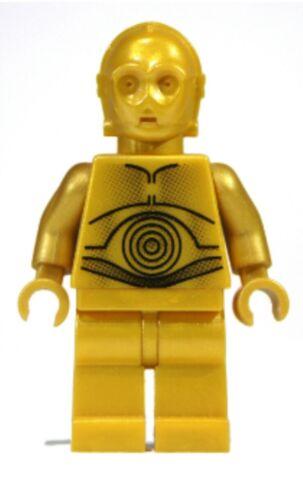 Authentic LEGO Star Wars C-3P0 Protocol Droid Minifigure sw161a 8092 Gold C-3PO