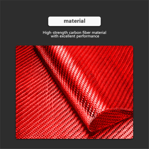 Red Carbon Fiber Copilot Storage Box Handle Cover Trim For Nissan 350Z 2006-2009