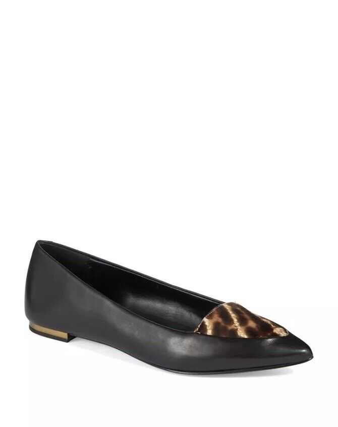 New AERIN Imogen Calf Hair Hair Hair Pointed Toe Flats Size 6.5 MSRP  295 343644