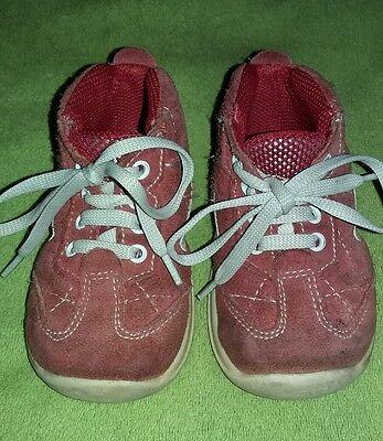 Babyschuhe für Mädchen Gr. 21, rote Wildlederschuhe
