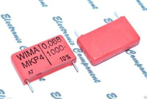 1000V 5/% 22.5mm Capacitor WIMA MKP10 0.068uF 4pcs 0,068uF