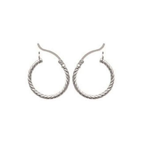 Boucles D/'oreilles Créoles Torsadées En Argent Massif 925//1000 Bijoux Femme
