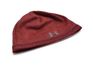 43d194592e Details about Under Armour Men's UA ColdGear Reactor Beanie Knit Hat Fleece  Lined Red New NWT