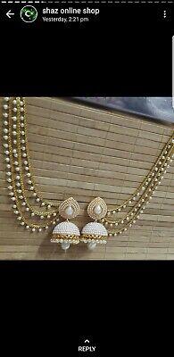 **UK SELLER** Indian Bollywood Style Gold Tone Jhumka Jhumki Earring