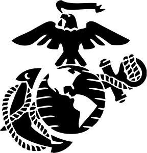 Eagle Globe Anchor USMC Marine Corps Car Decal Sticker