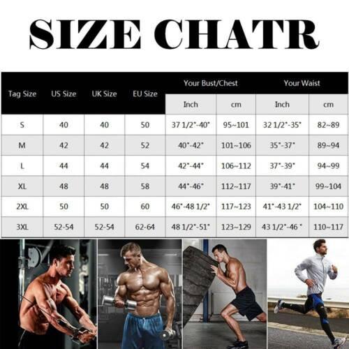 Details about  /Men Sauna Vest Waist Trainer Fitness Sweat Shirt Fat Burner Slimming Body Shaper
