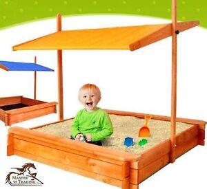Image is loading BARGAIN-LARGE-Wooden-SANDBOX-Sand-Box-SandPit-Adjustable-  sc 1 st  eBay & BARGAIN ! LARGE Wooden SANDBOX Sand Box SandPit - Adjustable ...