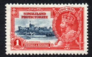 Somaliland-Silver-Jubilee-1-Anna-Stamp-c1935-Mounted-Mint-1649