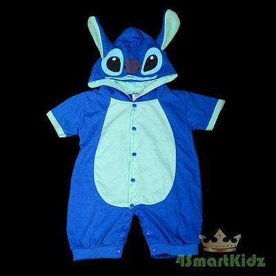 Stitch Baby Boy Fancy Party Costume One Piece Suit Romper Outfit Age 6m-9m #026