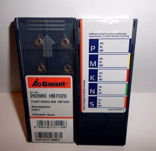 Garant TCMT110202-SM HB7020 Wendeschneidplatten ***Neu*** 10.Stk