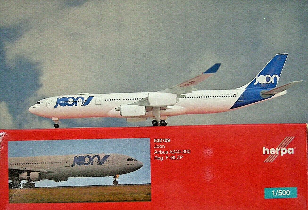 Herpa Herpa Herpa Wings 1 500 Airbus A340-300  Joon  F-GLZP  532709  Modellairport500 4f716d