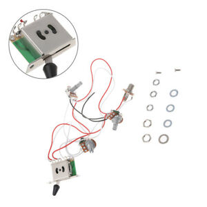 Guitar Wiring Harness 1v2t 1 Jack 3 500k Pots 5 Way Switch For ... on