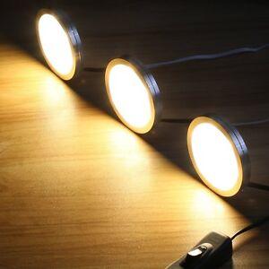 Image Is Loading 3pcs Home Kitchen LED Under Cabinet Light Closet