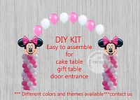 Pink Minnie Mouse Balloon Arch With Columns Birthday Party Decorations Disney