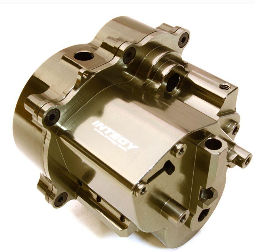 economico e alla moda Integy Billet Aluminum Center Gear Transmission Transmission Transmission scatola for Traxxas T-Maxx grigio  consegna gratuita