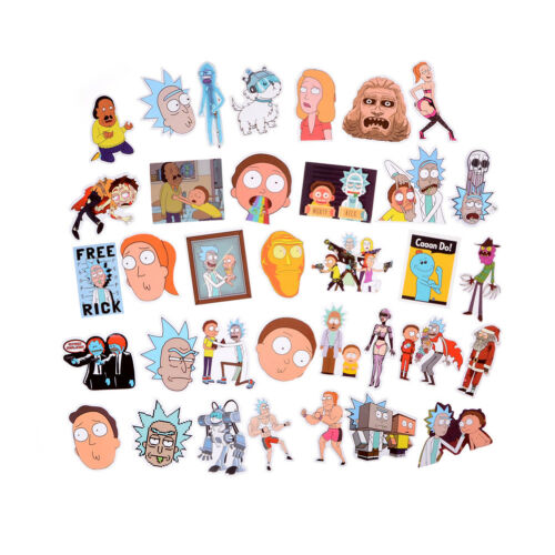 35Pcs Rick and Morty Sticker Car Laptop Bicycle Notebook Waterproof Sticker I