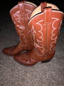 Tony-Lama-Vintage-Lizard-Boots-8025-Size-9-1-2
