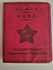 UdSSR Stalin Russland KGB NKWD Ausweis Urkunde Dokument