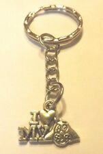 porte clés argenté I love my dog (j'aime mon chien)