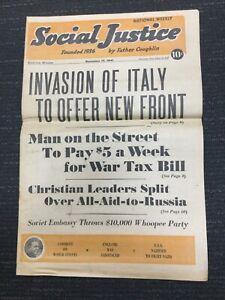 Father-Coughlin-SOCIAL-JUSTICE-Magazine-Nov-17-1941-Newspaper-World-War-II