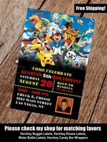 Pokemon Invitation,pokemon Birthday Invitations Printable Invite Birthday Party