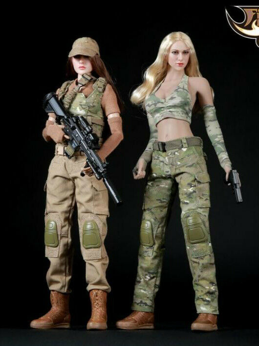 1 6 Fire Girl Military Female Camouflage Tactical Suit FG003 FG004 Gunner Suit
