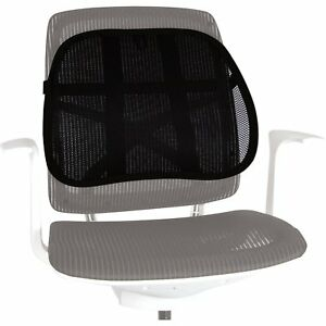 Fellowes Office Suites Mesh Back Support Office Chair Support 80365 on chair with adjustable lumbar support, chair back support products, best ergonomic chair lumbar support for office, chair cushion for office,