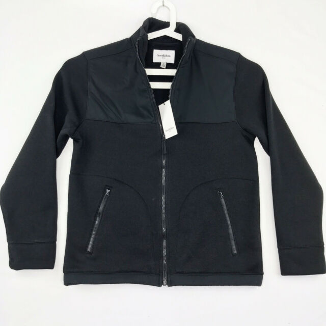 Goodfellow & Co Mens Size Medium Fleece Jacket Standard Fit Zip up Black