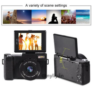 4X Digital Zoom 3inch TFT LCD Screen Full HD 1080P 24MP Video Camcorder Camera
