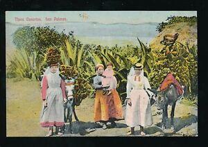 Spain Gran Canaria LAS PALMAS Tipos Canarios costume dress fashion c1900s? PPC