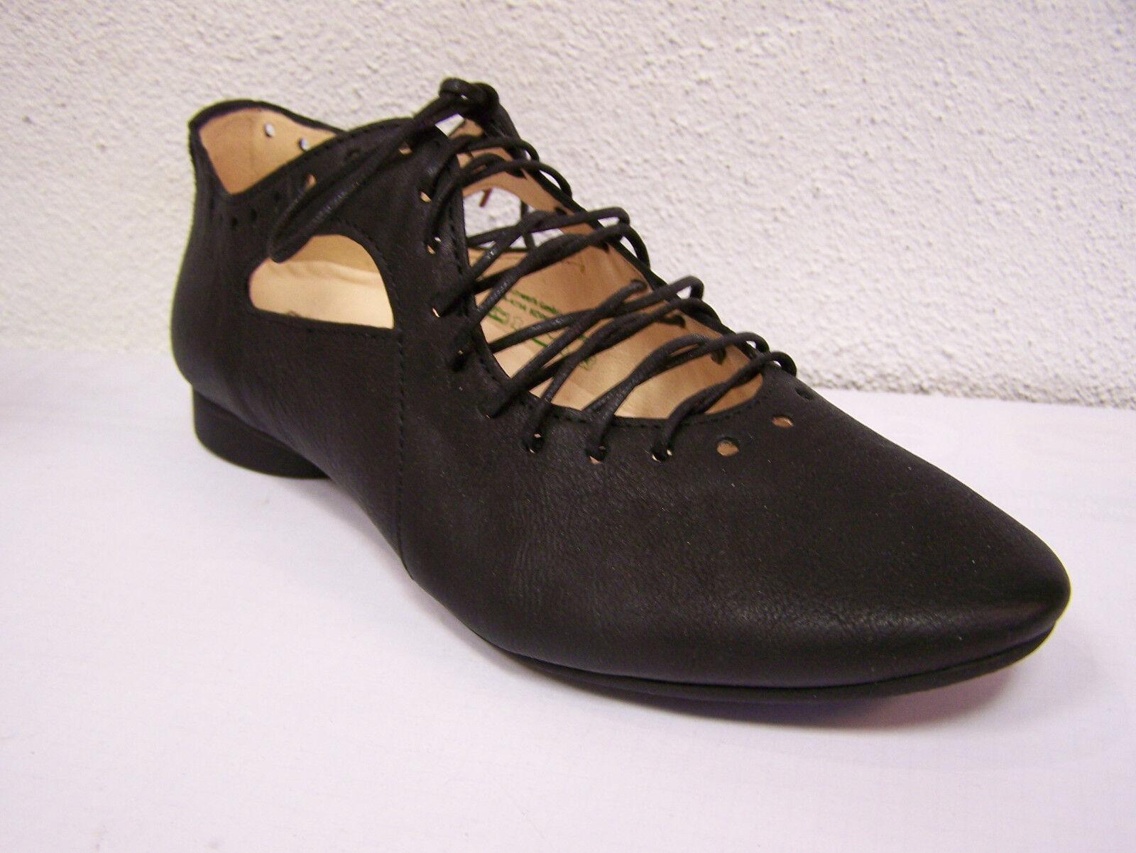 Think  Chaussures Modèle Guad Lacets Noir Texano Calf doux & Chaussure Sac