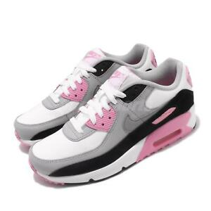 Desilusión Desafío galón  Nike Air Max 90 LTR GS Leather OG White Grey Pink Womens Kids Shoes  CD6864-104 | eBay